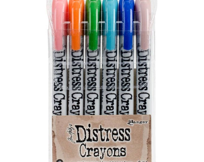 Ranger Tim Holtz Distress Crayons - Set # 6 - Water Reactive Pigments