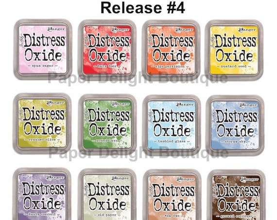 Release #4 - Tim Holtz Distress Oxide Ink Pads - All 12 NEW July 2018 Colors