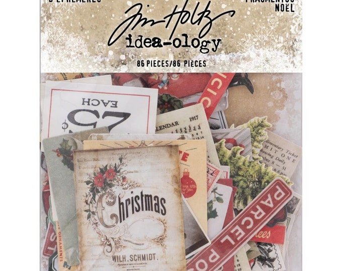 Tim Holtz Idea-Ology Tiny Ephemera Snippets Pack - Christmas (TH93765) New for 2018
