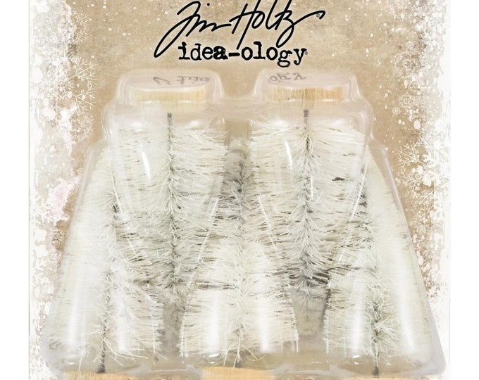 Tim Holtz Idea-Ology Woodlands Small Bristle Tree Lot (TH93757) New for 2018
