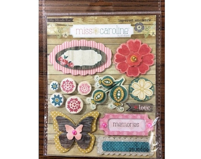 "My Mind's Eye MISS CAROLINE Dolled Up ""Princess"" Layered Cardstock Stickers (MC0209)"