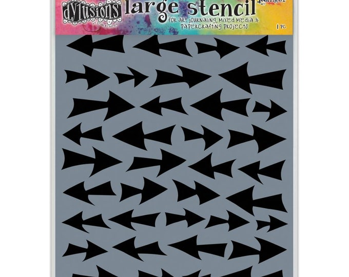 Ranger Dylusions DIRECTION Arrows Large 9x12 Stencil by Dyan Reaveley