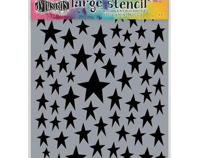 New! Ranger Dylusions STAR STRUCK Large 9x12 Stencil by Dyan Reaveley