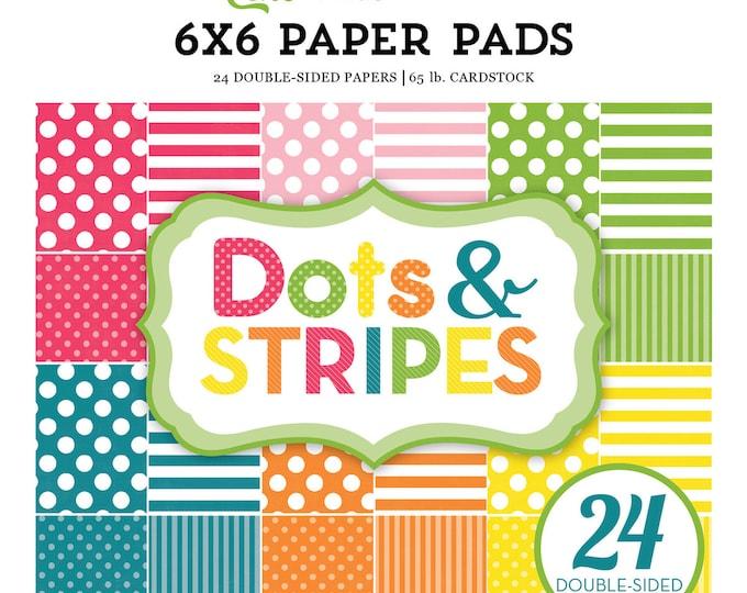 Echo Park Paper DOTS & STRIPES Spring 2017 6x6 Scrapbook Paper Pad (DS17082)