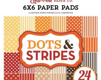 Echo Park Paper DOTS & STRIPES Fall 6x6 Scrapbook Paper Pad (DS170122)