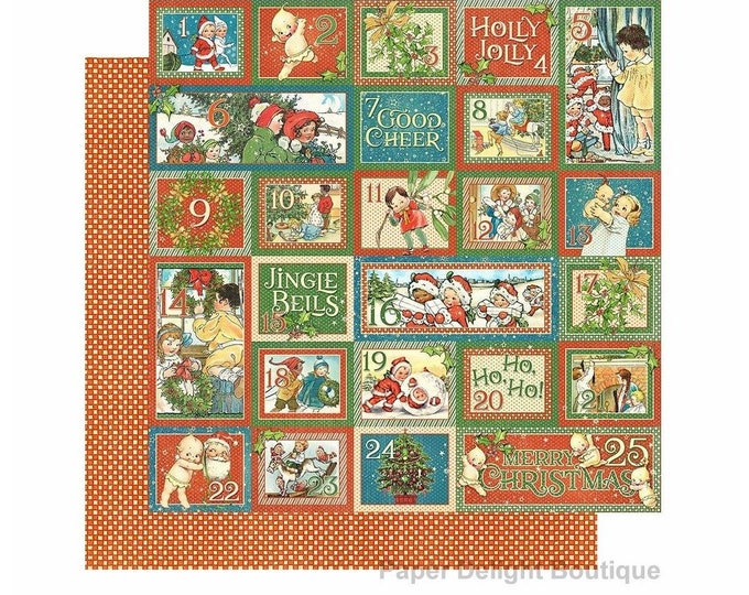 2 Sheets of CHRISTMAS MAGIC Scrapbook Cardstock by Graphic 45 Paper - Countdown Surprise (4501729)