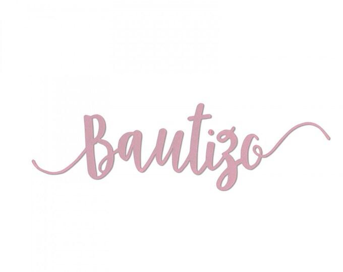 New! Sizzix Thinlits Die - Bautizo (Baptism) by Luisa Elena Guillen-K (663214)