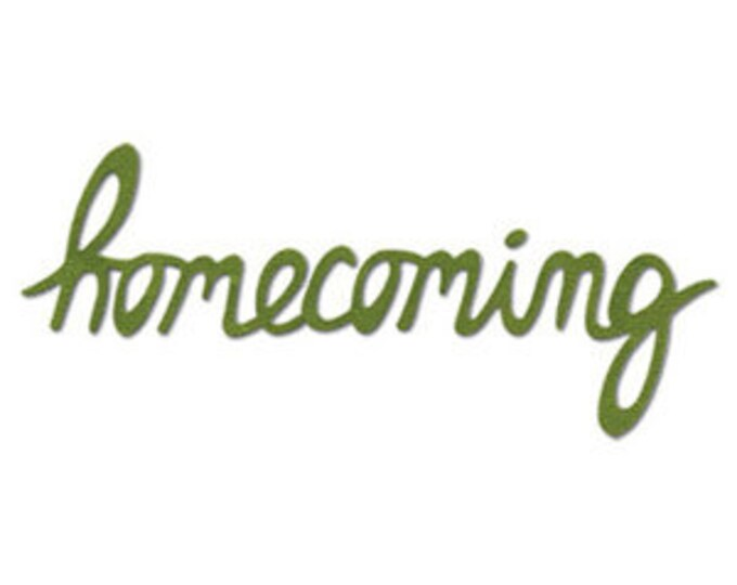 Sizzix Medium Sizzlits Die - Phrase, Homecoming (656705)