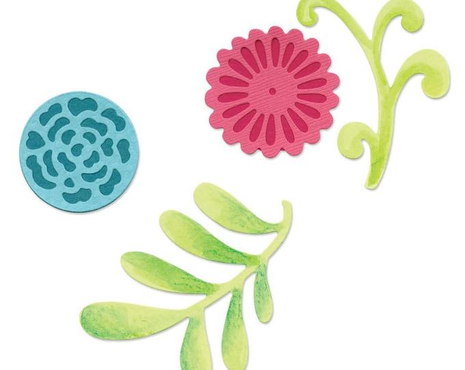 Sizzix Sizzlits Die Set 3PK - Flower Set #5 by Dena Designs (657384)