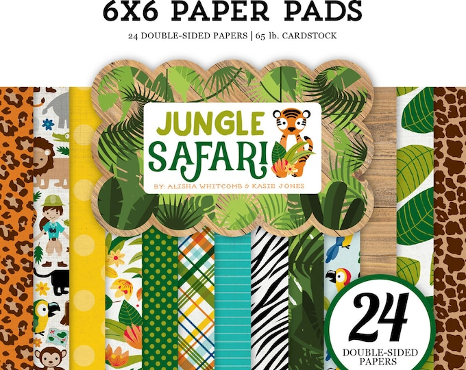 Echo Park Paper JUNGLE SAFARI 6x6 Scrapbook Paper Pad