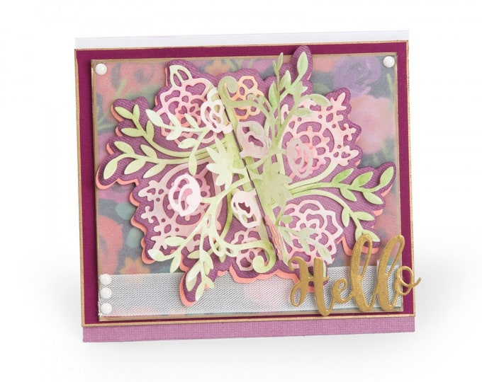 New! Sizzix Thinlits Die Set 9PK - Floral Bunch Flip and Fold by Katelyn Lizardi 662774