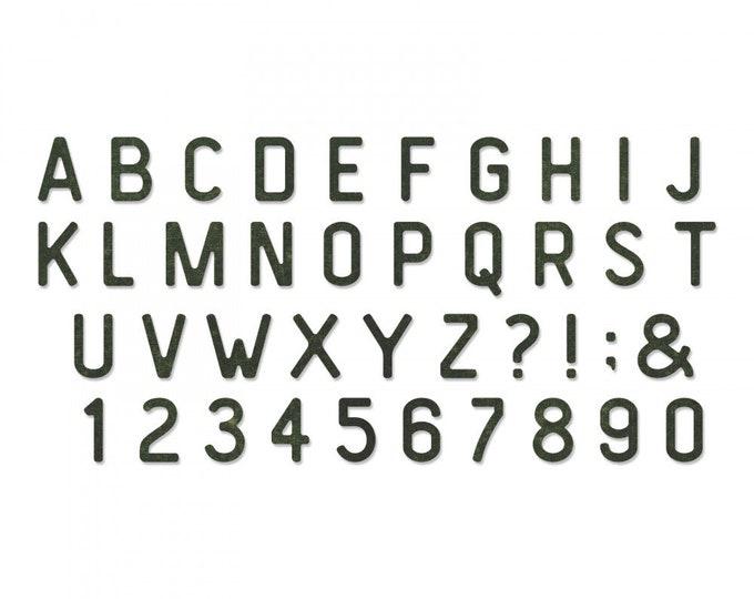 New! Sizzix Tim Holtz Bigz XL Alphabet Die - Letterboard 663111