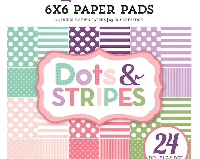 Echo Park Paper DOTS & STRIPES Little Girl 6x6 Scrapbook Paper Pad (DS17042)