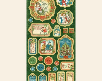 Graphic 45 CHRISTMAS MAGIC 6x12 Chipboard Sheet