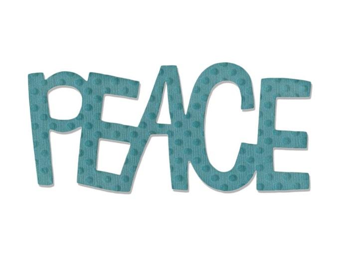 Sizzix Medium Originals Die - Phrase, Peace #2 by Stephanie Ackerman