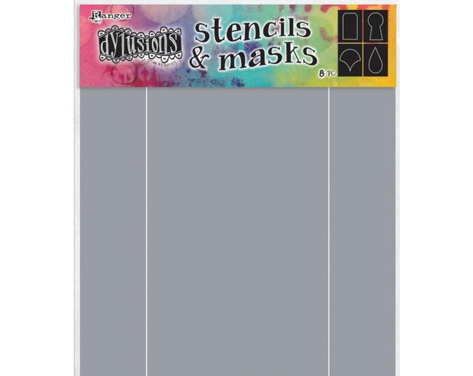 New! Ranger Dylusions BASIC SHAPES Stencils and Masks Set by Dyan Reaveley