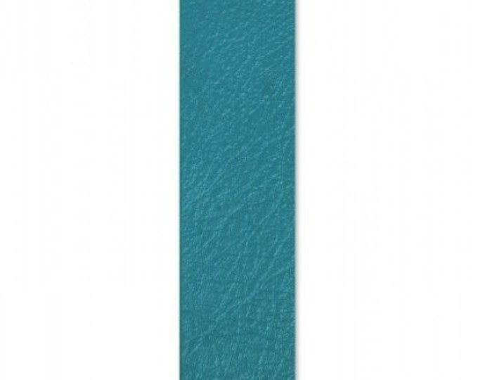 """New! Sizzix Leather Piece - 1.875"""" x 8"""" Dark Turquoise (Cowhide)"""