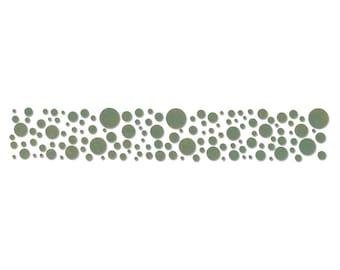 New! Sizzix Tim Holtz Alterations Decorative Strip Die - CONFETTI (Circles, Bubbles)