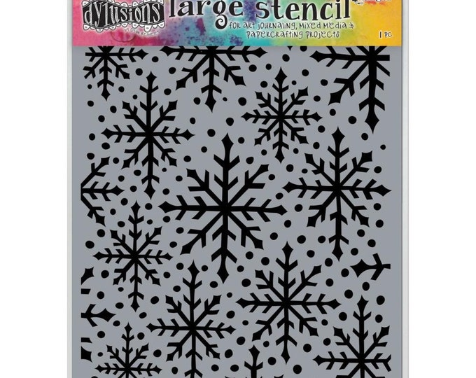 New! Ranger Dylusions SNOWFLAKE Large 9x12 Stencil by Dyan Reaveley