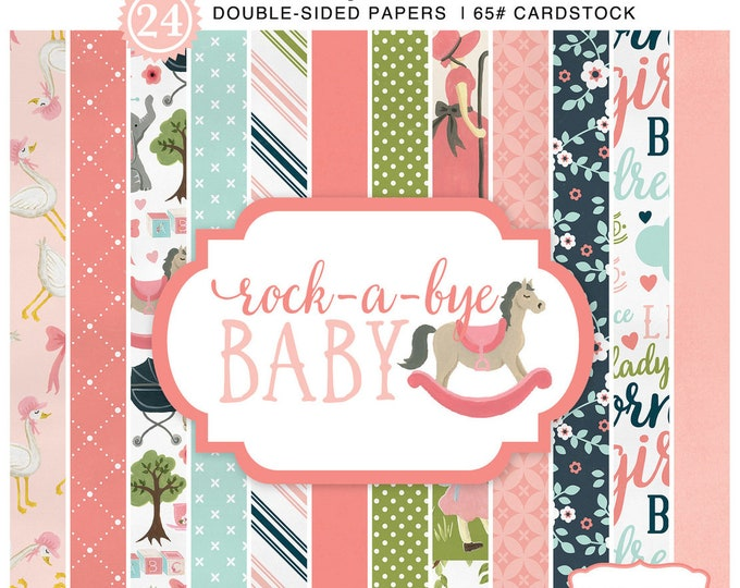 Carta Bella ROCK-A-BYE Baby Girl 6x6 Scrapbook Paper Pad