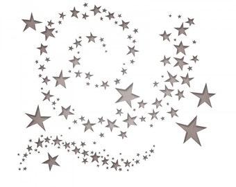 New! Sizzix Tim Holtz Thinlits Die Set 9PK - Swirling Stars (663095)