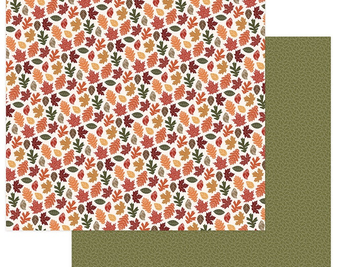 2 Sheets of Photo Play AUTUMN ORCHARD 12x12 Fall Leaves Theme Scrapbook Cardstock Paper - Bountiful