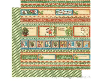 2 Sheets of CHRISTMAS MAGIC Scrapbook Cardstock by Graphic 45 Paper - Gifting Gala (4501733)