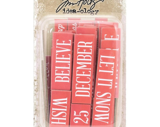 Tim Holtz Idea-Ology Christmas Quote Chips (TH93753) New for 2018