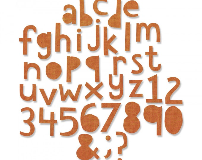 "New! Sizzix Tim Holtz Thinlits Die Set 102PK - Alphanumeric, Cutout Lower (3/4"" Tall) 663074"