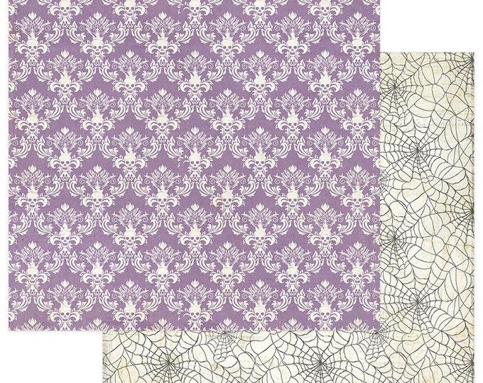 2 Sheets of Photo Play BOOTIFUL 12x12 Halloween Scrapbook Paper - Damask