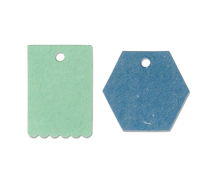 Sizzix Border Originals Die - Tags, Hexagon & Scallop by Echo Park Paper 660444
