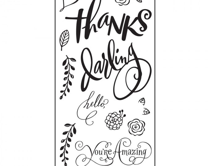 Sizzix Clear Stamps - Hello Darling by Brenda Walton 661091