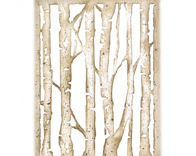 New! Sizzix Tim Holtz Thinlits Die - Branched Birch 663108