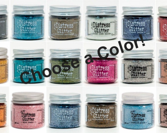 Tim Holtz Dry DISTRESS GLITTER Jar by Ranger - Choose a Color!