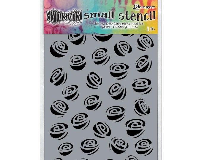 New! Ranger Dylusions GARDEN OF ROSES Small 5x8 Stencil by Dyan Reaveley