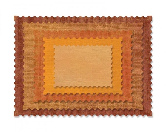 New! Sizzix Tim Holtz Thinlits Die Set 5PK - Stacked Postage 662696