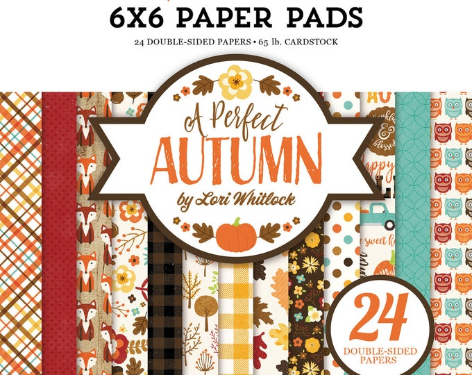 Echo Park Paper A PERFECT AUTUMN 6x6 Scrapbook Paper Pad