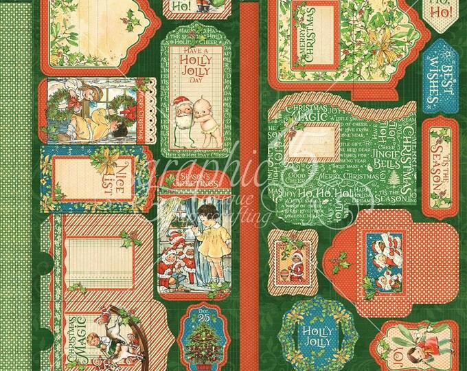 Graphic 45 CHRISTMAS MAGIC Tags & Pockets