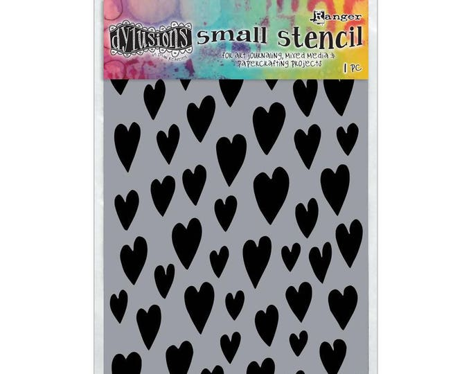 Ranger Dylusions LOVE HEARTS Small 5x8 Stencil by Dyan Reaveley