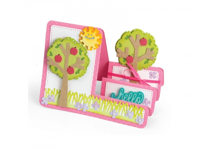 Sizzix Framelits Die Set 19PK - Card, Tree Step-Ups by Stephanie Barnard