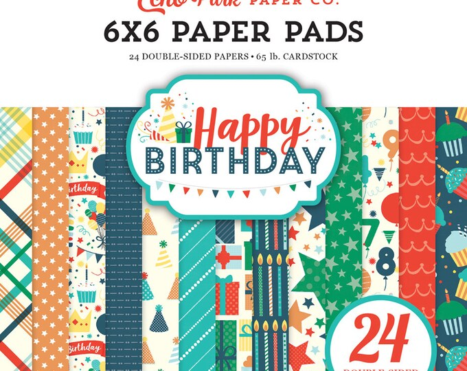 Echo Park Paper HAPPY BIRTHDAY BOY 6x6 Scrapbook Paper Pad