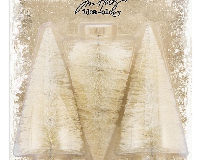 Tim Holtz Idea-Ology Woodlands Large Bristle Tree Lot (TH93766) New for 2018