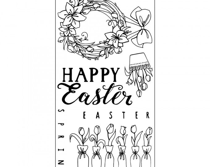New! Sizzix Clear Stamps - Happy Easter by Katelyn Lizardi 661998