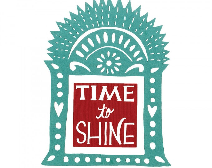New! Sizzix Thinlits Die Set 2PK - Time to Shine Shrine by Crafty Chica 663145