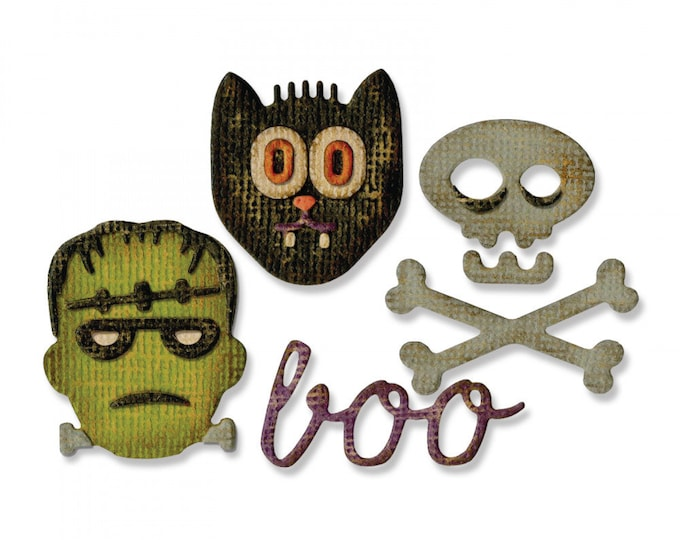 New! Sizzix Tim Holtz Side-Order Set for the Sidekick - Halloween 663072
