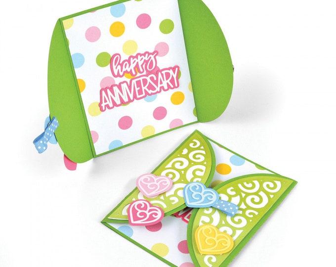 New! Sizzix Framelits Die Set 14PK - Card, Half A2 Swirls by Stephanie Barnard 662743
