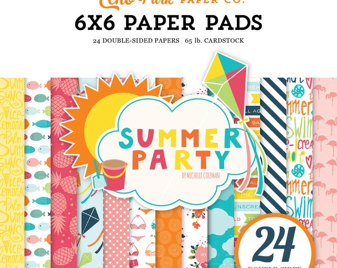 Echo Park Paper SUMMER PARTY 6x6 Scrapbook Paper Pad