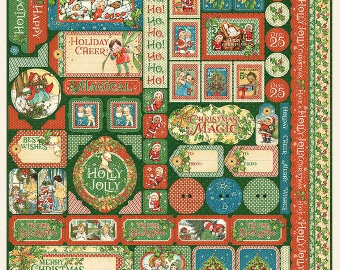 Graphic 45 CHRISTMAS MAGIC 12x12 Sheet of Stickers