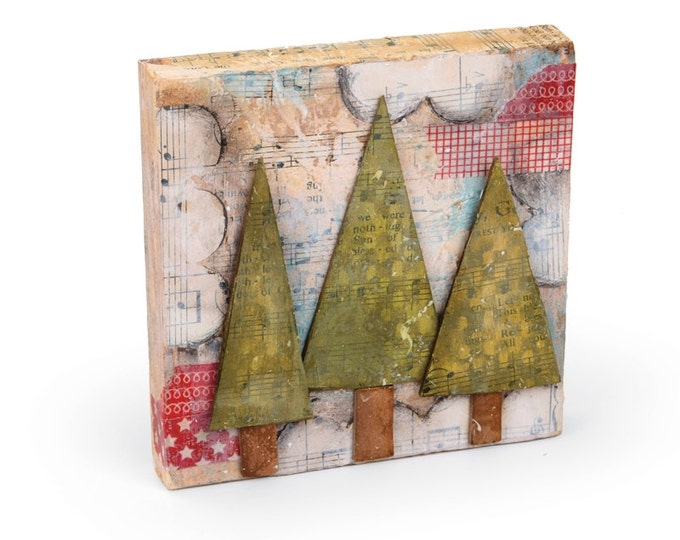 Sizzix Large Originals Die - Trees, Three by Stephanie Ackerman