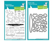 In Stock Lawn Fawn SWAN SOIREE Clear Stamp and Die Set LF2219 LF2220